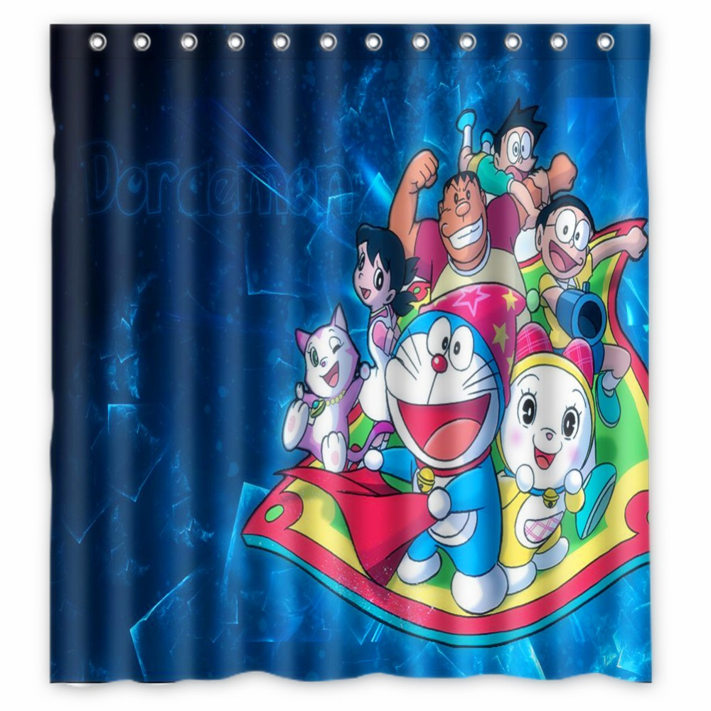 Fairy shower curtain - Anime Shower Curtain One Piece Dragon Ball Z Bleach Fairy Tail Naruto Together Doraemon Shower Curtain