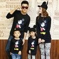Família dos desenhos animados mesma roupa manga comprida Tops família vestuário mãe / mãe e filha roupas pai e filho roupas, Cy21