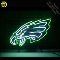 Sports Team Eagles neon Signs Real Glass Tube neon lights Recreation Professiona Iconic Sign Beer Bar Pub sign board Lamps 19x15