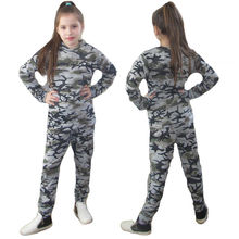 2pcs!!Fashion Girls Boys Kids Camouflage Cotton Tracksuit Tops + Longs Trousers Outfits Set Clothes T