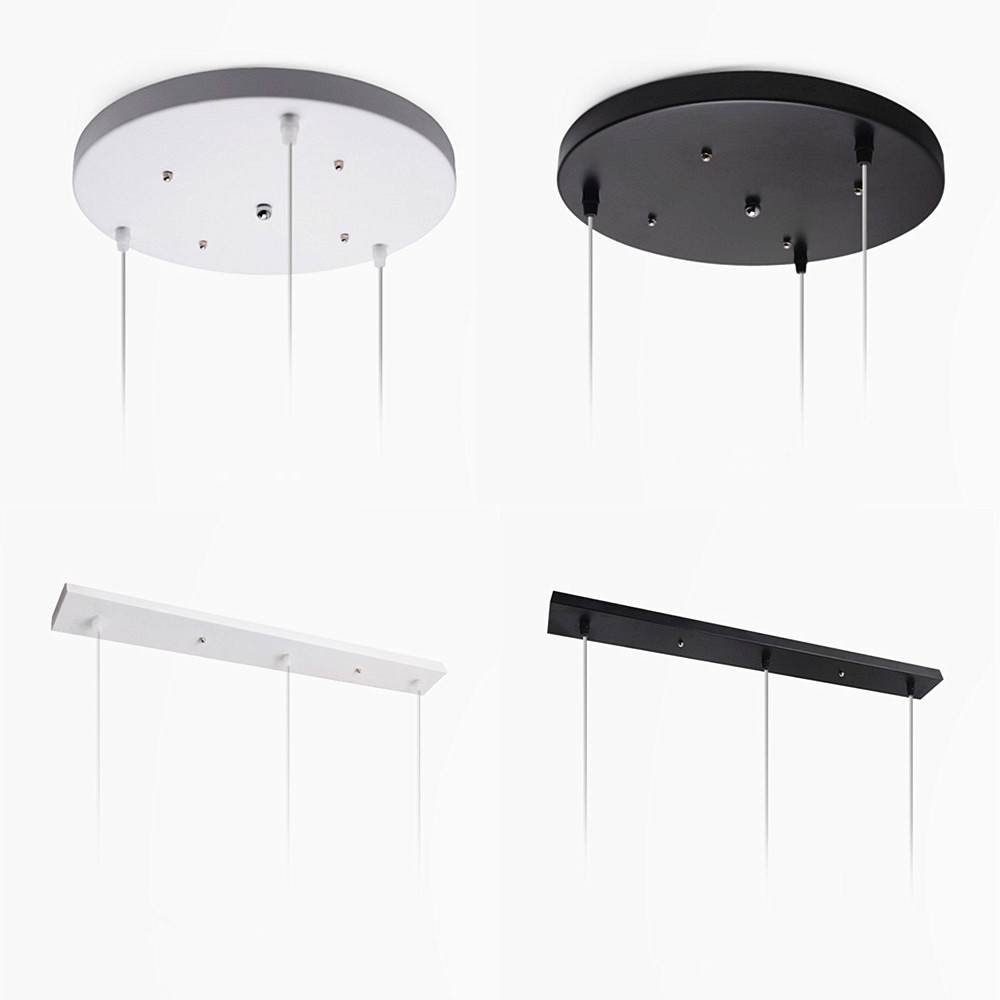 [DBF]Pendant Lamp Accessory 3 lamps bar Round Ceiling Mounted Plate Canopy Customize for Pendant lights hanglamp