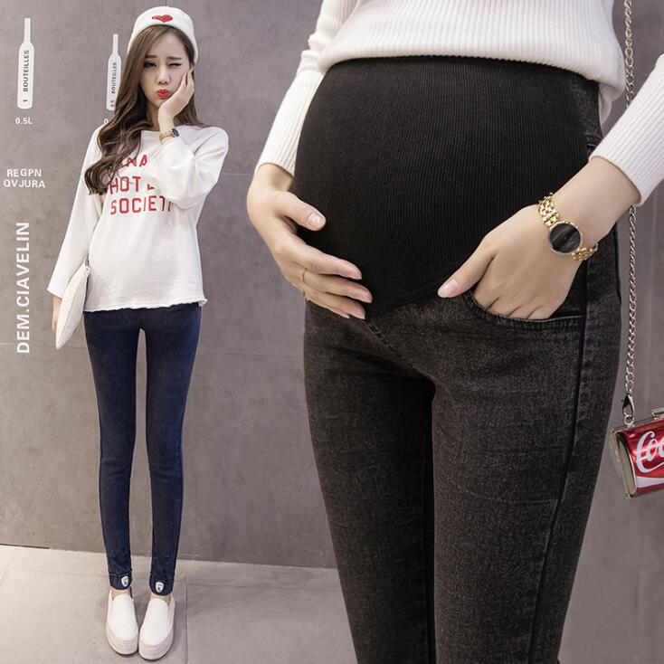 Maternity Pants For Pregnant Women Maternity Jeans Clothes Trousers Nursing Prop Belly Maternity Clothing image