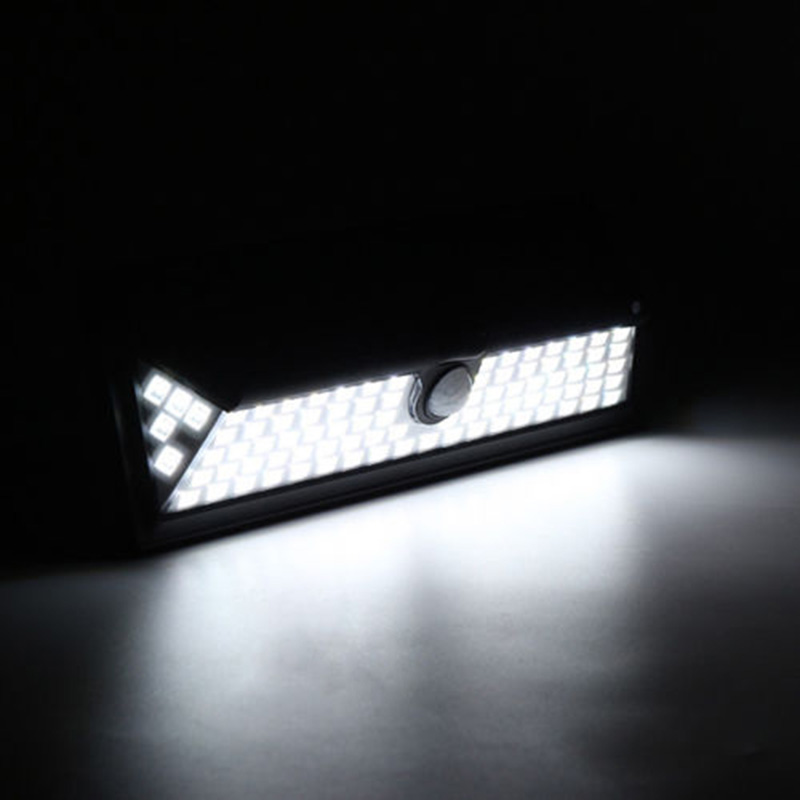 90 LED Solar Power PIR Motion Sensor Outdoor Wall Light Yard Path Garden Lamp AI88