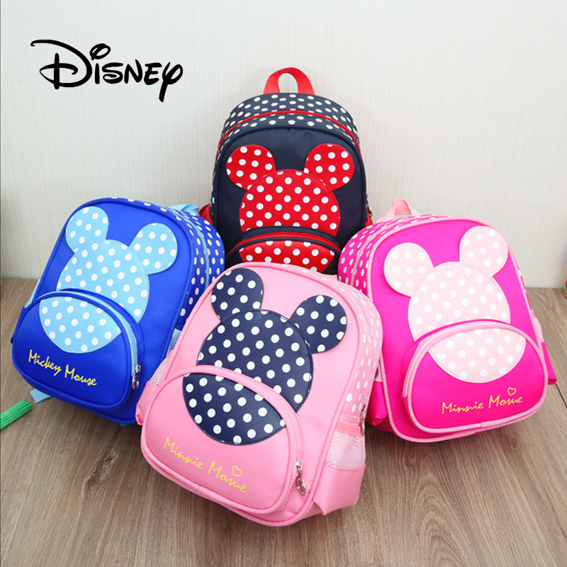 9456290dc00 2019 New Disney Mickey Mouse Backpack Boys Backpacks For Kindergarten  Canvas Children Package Kids School Bags For Baby Girls