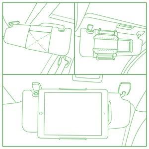 Image 2 - Tablet Visor Mount Holder for All 7 to 11 Inch Tablets / Visor Tablet Holder for iPad, iPad mini, iPad Air, Kindle Fire Tablets