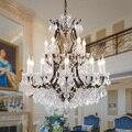 Лофт ретро винтажные большие хрустальные люстры Lustre Современная Подвесная лампа E14 LED 110В 220В освещение для кухни гостиной спальни