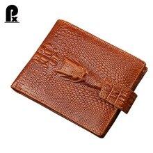 Designer marque véritable en cuir hommes portefeuilles hommes portefeuille avec poche à monnaie court mâle sacs à main en alligator portefeuilles cudzan portefeuille homme