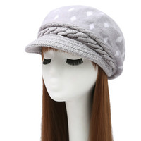 KUYOMENS Women S Winter Hat And Cashmere Rabbit Hair Knitted Cap Knitting Wool BERET Wholesale Fashion