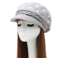 KUYOMENS Women S Winter Hat And Cashmere Rabbit Hair Knitted Cap Knitting Wool BERET Wholesale Fashion