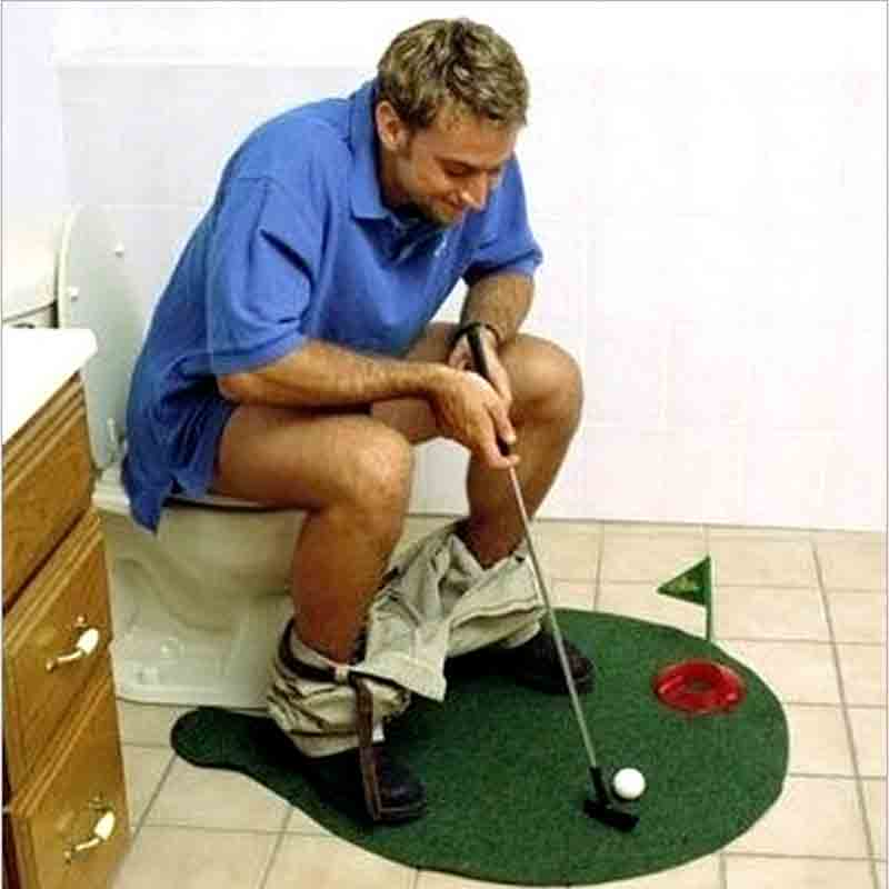 HeLIC MaX Funny Golf Toilet Time Toilet Golf Game Mini Golf Set Toilet Golf Putting Green Novelty Game Hig Quality For Men Women