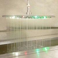 Ванная комната Радуга осадков Насадки для душа на потолке насадкой свет души воды Мощность красочные дождь 16 дюймов