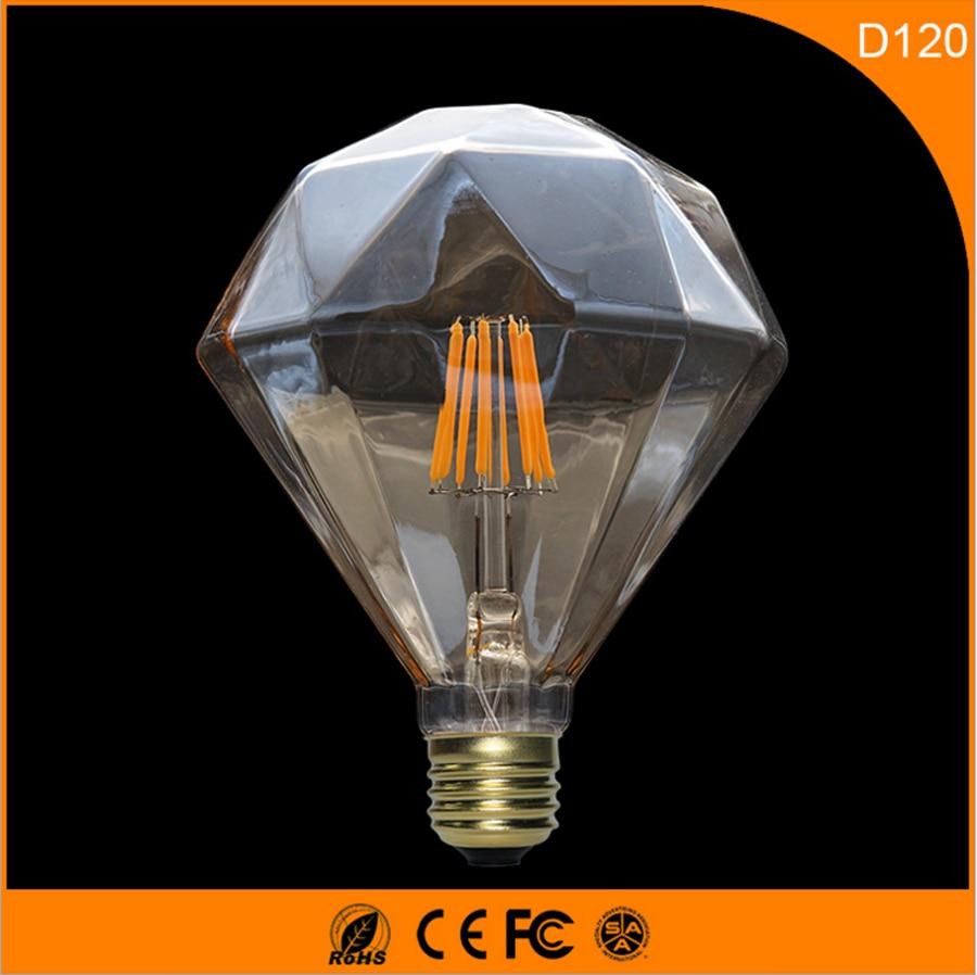 50PCS  6W D120 Vintage B22 E27 Led Bulb ,Retro Edison Light Bulb For Living Room Bedroom Coffee Bars AC 220-240V 50pcs  6w d120 vintage b22 e27 led bulb