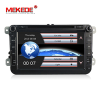 Free Shipping Two Din 8 Inch Car DVD Player For VW POLO PASSAT Golf Skoda Octavia