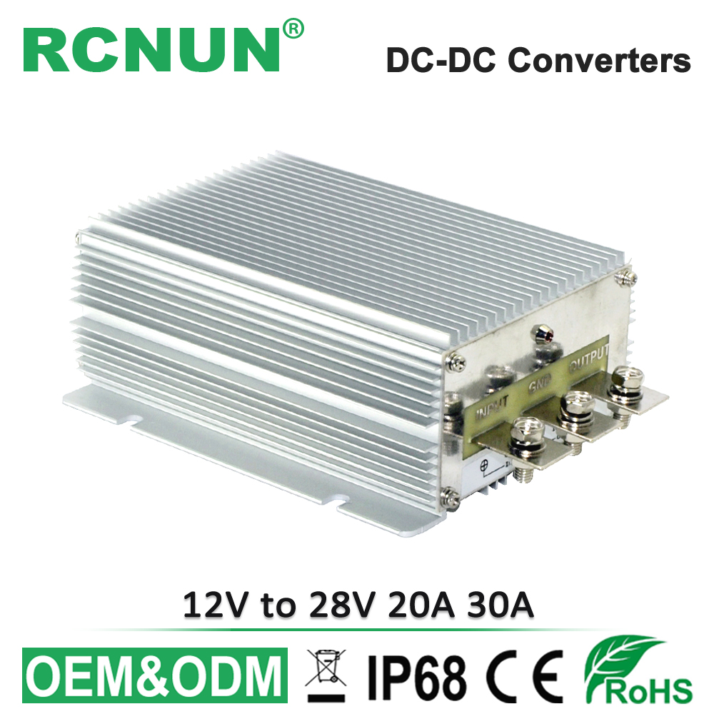 No isolated 12 Volt to 28 Volt 30A DC DC Step Up Converter 12V to 28V