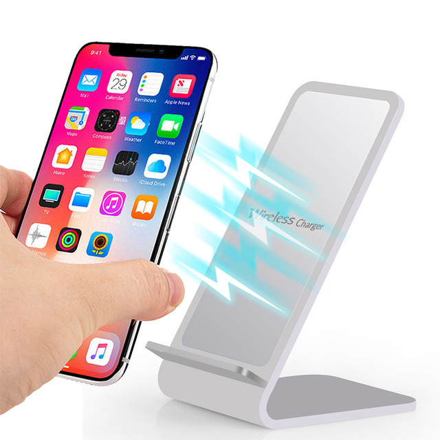 sale retailer b7255 eb3ac US $18.23 26% OFF|Aluminium Design 2 coil Charging Station Wireless Charger  Stand For Iphone XS MAX XR 8 Plus phone For Samsung Note 9 S9 S8 Plus-in ...