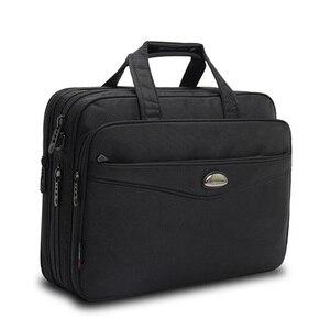 Image 1 - 2019 Fashion men bag Satchels briefcase Laptop Large capacity Multifunction bag Oxford handbags high quality Shoulder Bags Male