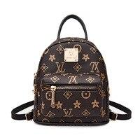 Summer New luxury Women Backpack PU Leather Classic Printed letters Side Sivets Mini Backpacks High Quality School Books Bag