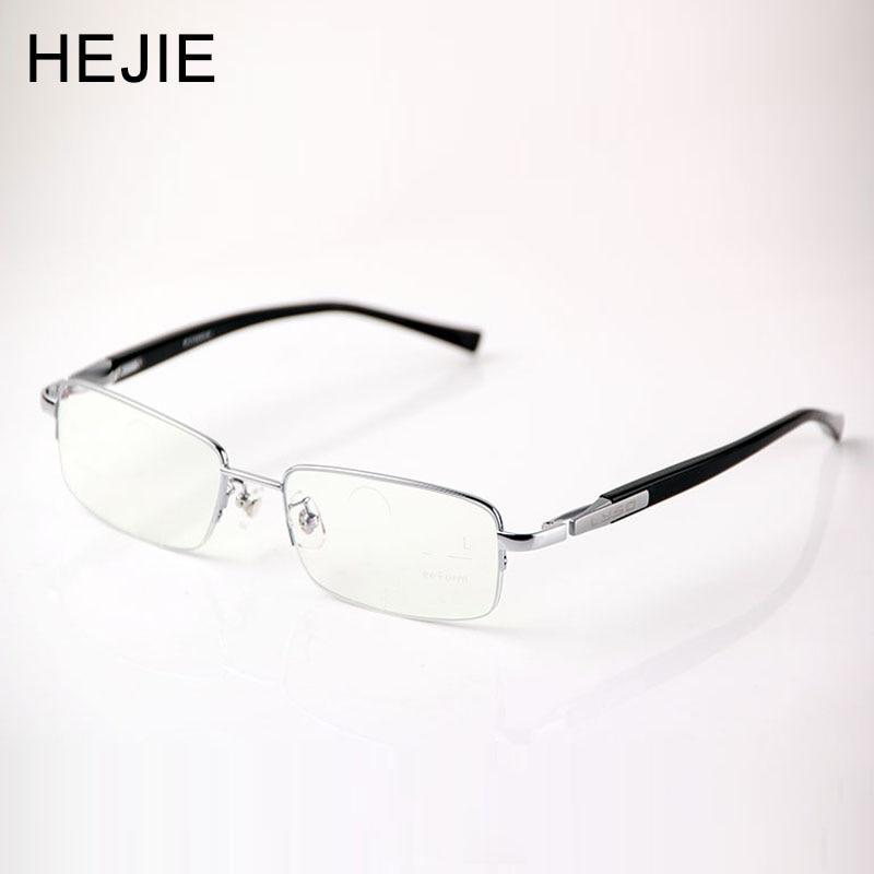 Gafas de lectura progresivas multifocales internas de forma libre de titanio puro de gran tamaño para hombres de hasta 3 dioptrías de vista + 1.0- + 2.75 Y1119