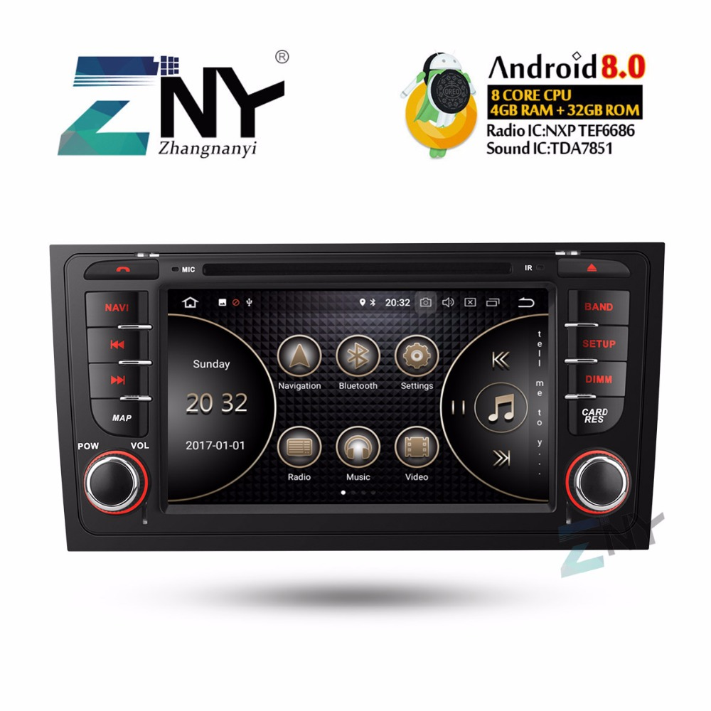 "7"" HD Android Car DVD Autoradio For Audi A6 S6 RS6 2 Din GPS Navigation Multimedia Stereo FM RDS Audio Video Player Gift Camera"