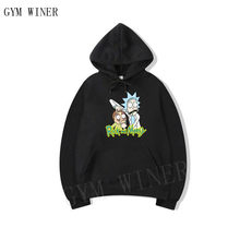 Hot Sale Autumn hip hop Hoodies Men Fashion Cool Rick Morty Brand Pullover printing Turtleneck Sportswear Sweatshirt Tracksuits(China)