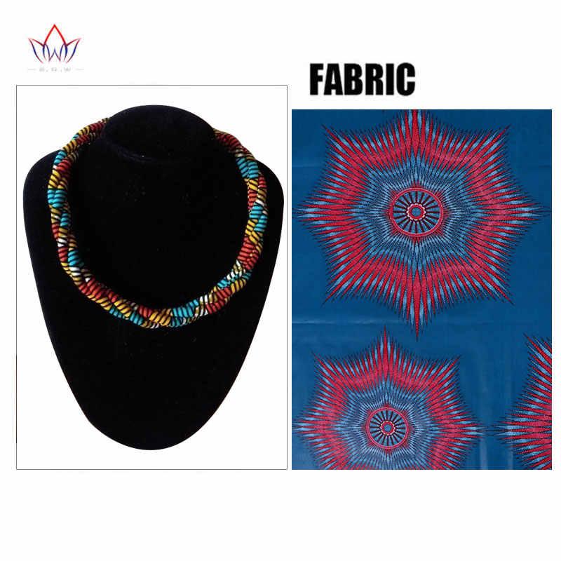 Thời trang Châu Phi In Vòng Cổ Ankara In Vòng Cổ Phi Dân Tộc Làm Bằng Tay trang sức Châu Phi vải đồ trang sức cho Phụ Nữ WYB388