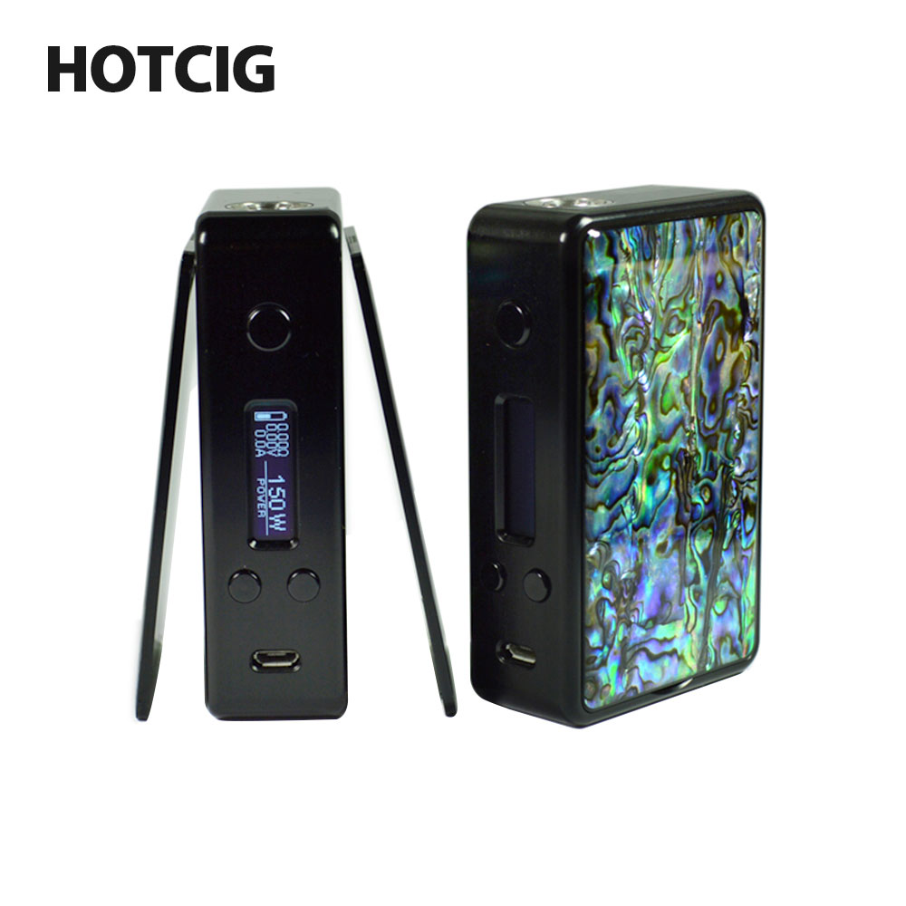 Оригинальный Hotcig R150 TC поле MOD Водонепроницаемый HM чипа Max Выход 150 Вт 0,96-дюймовый Дисплей без 18650 Батарея vape поле Mod VS Ikonn 220