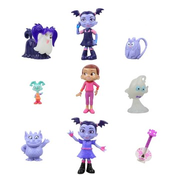 9PCS/LOT Junior Vampirina The Vamp Action Figures Toy Doll For Kids Baby gifts artificial nails