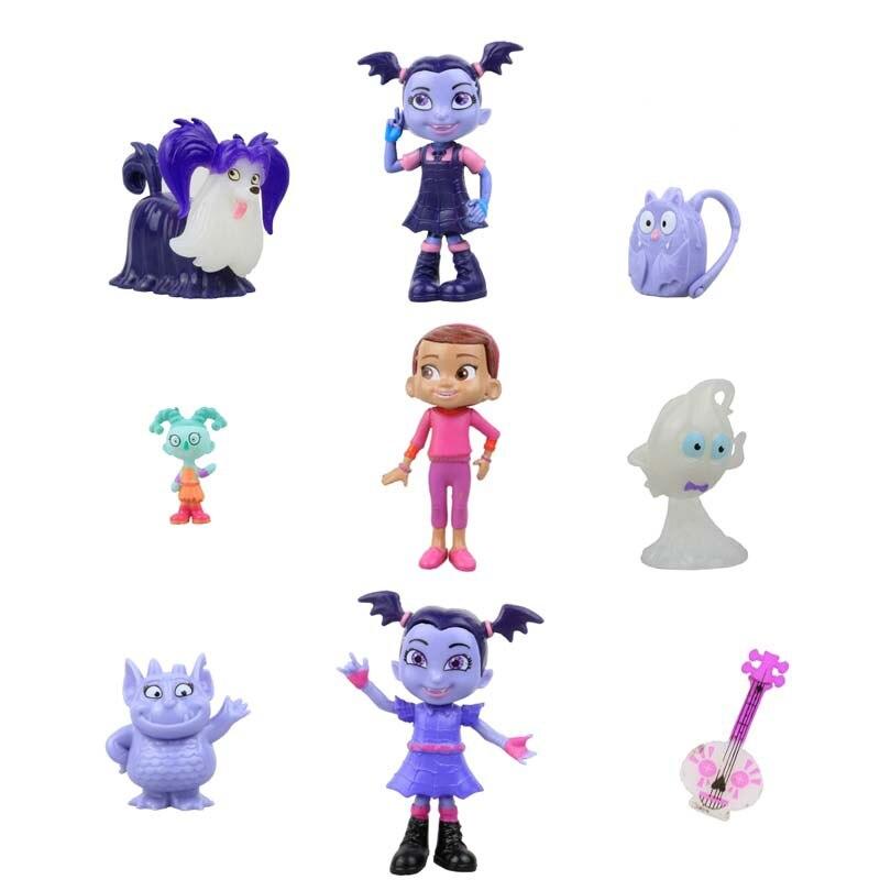 9PCS/LOT Junior Vampirina The Vamp Action Figures Toy Doll For Kids Baby gifts handbag