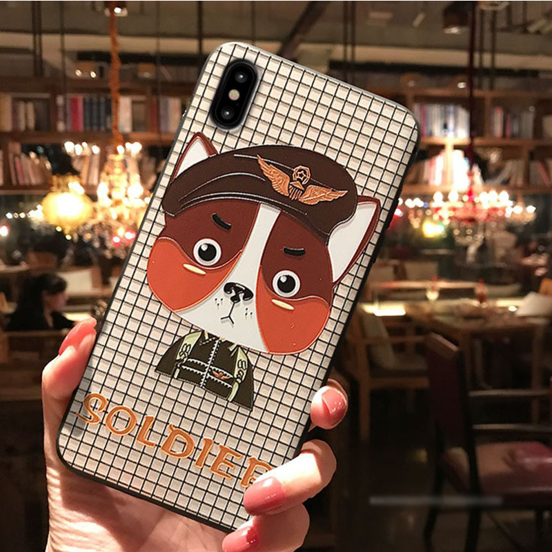 3D Embossed  Minnie Case For Huawei Mate 10 20 P10 P20 Lite Pro For Honor 8X 6A 9 10 Lite For iPhone XS Max X XR 6 7 8 Plus Case 4