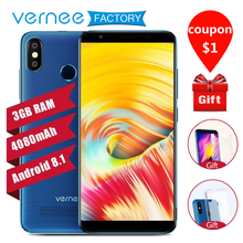 vernee T3 Pro 4G LTE Mobile Phone 3GB 16GB big battery 18:9 Bezel-less Full Screen 5.5 inch Android 8.1 MTK6739  Smartphone