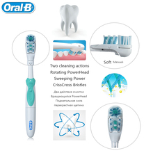 Adults Electric Toothbrush Oral B Cross Action Toothbrush Teeth Brush and Replacement Use AA Battery you can choose color