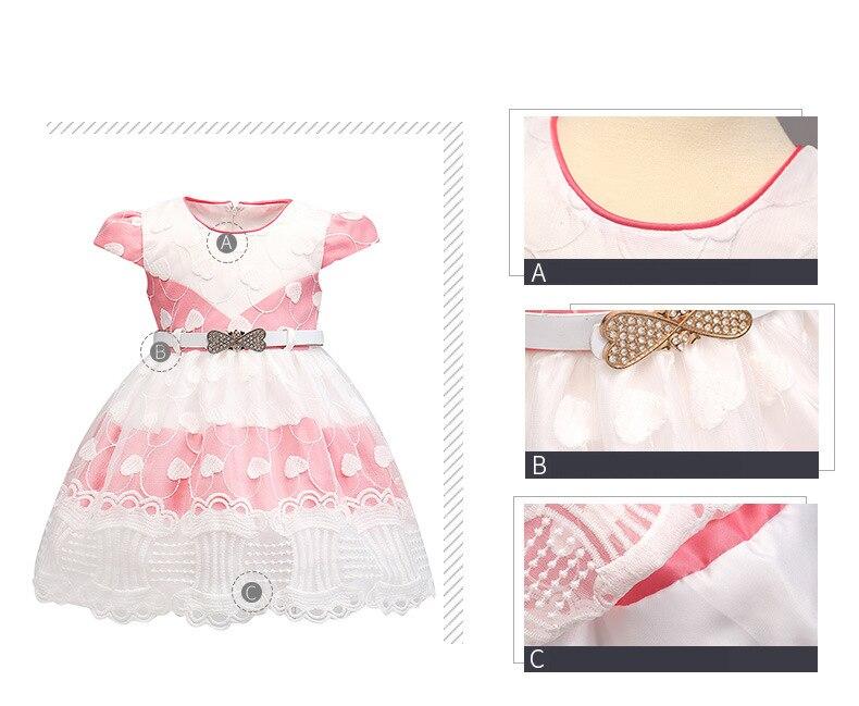 Verano Niño 1 año Vestido ropa de bebé recién nacido del bautizo del ...