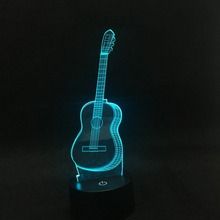 Buy guitar table lamp and get free shipping on aliexpress ammtoo 3d guitar 7 colors touch changing usb table lamp lampara led baby sleeping aloadofball Image collections