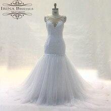 robe de mariage Cap Sleeve Lace Appliques Low Back