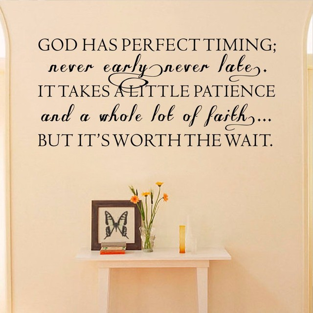 Inspirationa Quote God Has Perfect Timingnever Earlynever Late