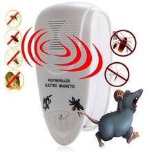 Ue/eua plug ultra sônica eletrônico mouse repelente de pragas barata rato armadilhas ratos mosquito repelentes insetos assassino transporte da gota