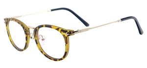 Image 4 - نظارات كلاسيكية خفيفة الوزن للرجال والنساء نظارات مستديرة من البلاستيك المعدني للعدسات الطبية