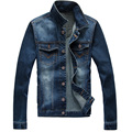 2016 Mens Jacket Denim Jacket men high quality brand Jeans clothing Jeans Jackets Ripped Holes Slim fit Vintageand Coat outwear