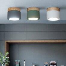 Nordic железного дерева потолочные светильники поверхностного монтажа современный потолочный светильник Гостиная Спальня веранды, коридора коридор