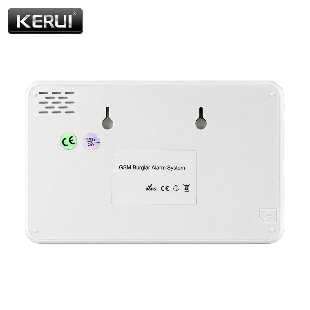 2019 KERUI W18 WIFI GSM Dual Alarm System APP Control 1,7-zoll Farbe Bildschirm Mit Wireless Pir-bewegungsmelder startseite Einbrecher Alarm