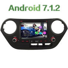 "7"" HD 2GB RAM Quad Core Android 7.1 Multimedia Car DVD Player Radio Stereo GPS Navi For Hyundai I10 LHD 2014-2017 4G DAB+ WiFi"