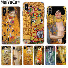 MaiYaCa Art Gustav Klimt Luxe High-end telefoon Accessoires case voor iPhone 8 7 6 6S Plus X XS max 10 5 5S SE XR Coque Shell(China)
