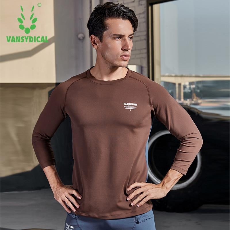 Chemise de Sport Hommes Fitness Course T Chemises 3/4 à manches longues Sport Top tenue de Sport élastique gym musculation t-shirt d'entraînement Rashgard