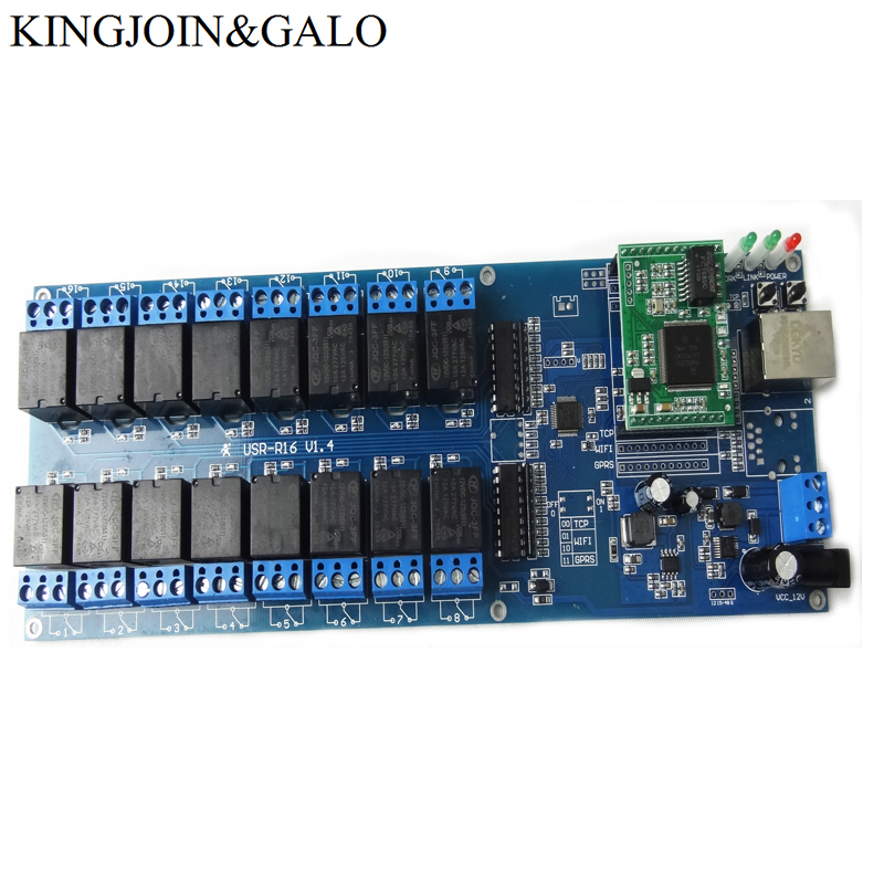 Industrial LAN WAN Ethernet Network 16 Channels relay board controller remote control switch module RJ45 TCP/IP 16 channel network relay controller module dual local remote control web pc android tcp ip timing contol