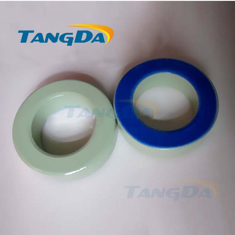 Tangda Iron powder cores T520-52D OD*ID*HT 132*78*41 mm 274nH/N2 75ue Iron dust core Ferrite Toroid Core toroidal green blue transformers ferrite toroid cores green 74mm x 39mm x 13mm