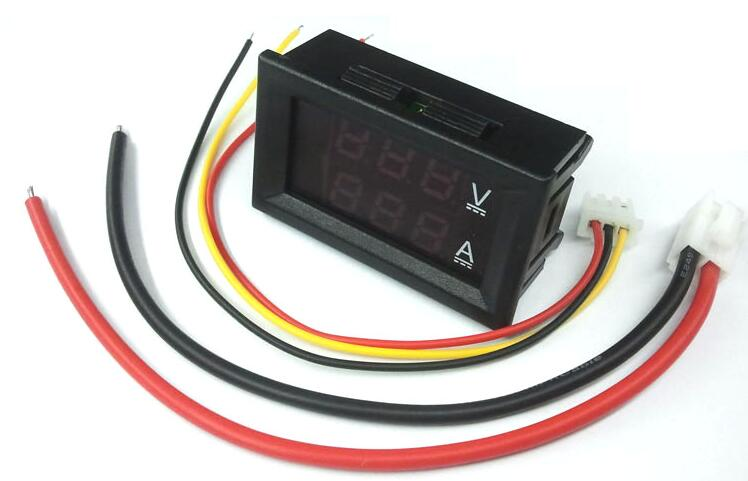1pcs Red+Blue dual LED Display 0.28'' DC0-100V/50A Car voltage current meter Digital Ammeter Voltmeter 5 wires Volt Gauge
