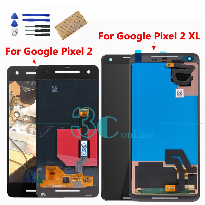 For Google Pixel 2 XL LCD Display Touch Screen for Google Pixel2 XL 2 XL2 LCD