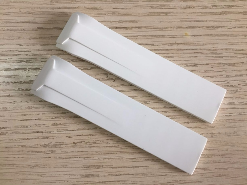 22mm T024417A Watchband White Silicone Rubber Strap T024417 Watch Band For T024