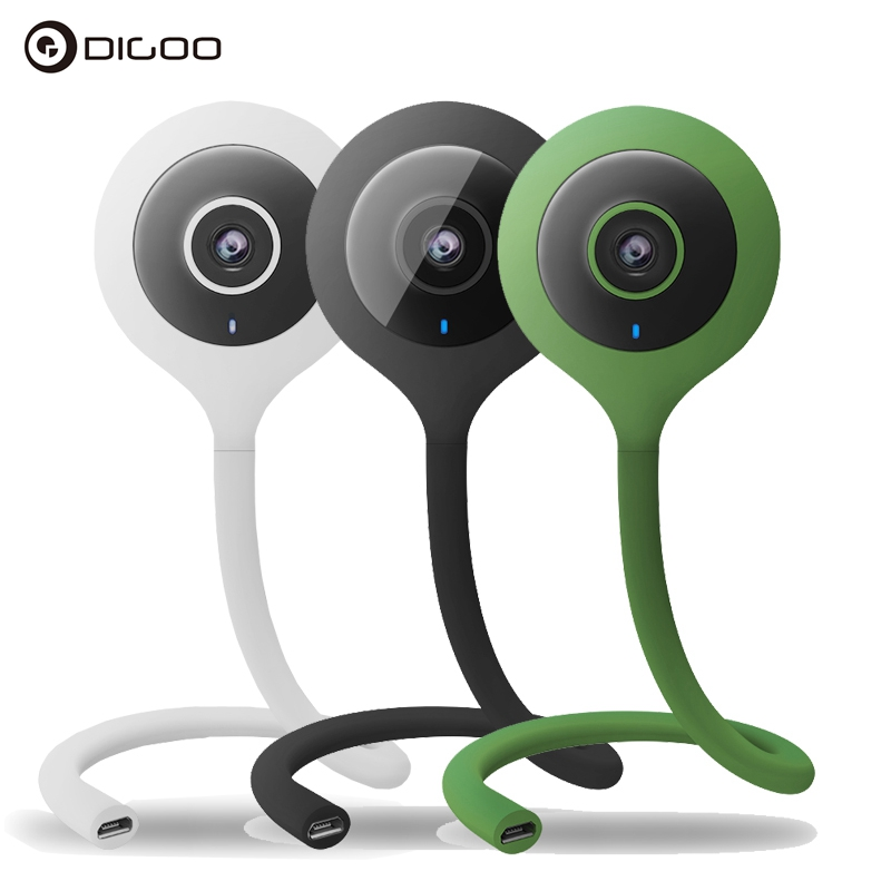 Digoo DG-QB01 Mini Flexible 720P IP Camera Baby Monitor Wireless Portable WIFI Night Vision Two-Way Audio VS for Xiaomi Hiseeu digoo dg bb 13 mw 9 99ft 3 meter long micro usb durable charging power cable line for ip camera device