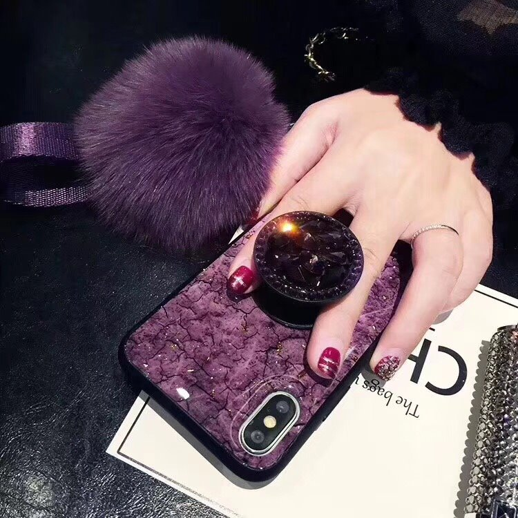 Luxury Diamond Marble Glitter Phone Cases for iPhone X XR XS MAX 7 8 6s Plus holder Ring Silicon Cover For iPhone XR XS